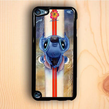 Dream colorful Lilo And Stitch Waiting For The Perfect Wave cartoon case iPod Touch 5th Gen