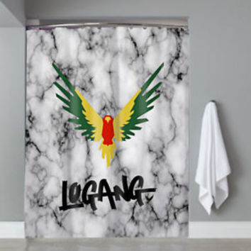 Hot Famous Top Maverick Logan Logo Marble Custom Shower Curtain Limited Edition