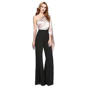 Women's Black Formal Evening Jumpsuit