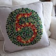 Pillow Ishihara Color Test Number Five by shopdirtsa on Etsy