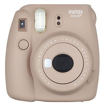 Fujifilm Instax Mini 8+ (Cocoa) Instant Film Camera + Self Shot Mirror for Selfie Use (Japan Import)