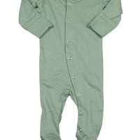 L'OVEDBABY Organic Seafoam Gloved Sleeve Overall