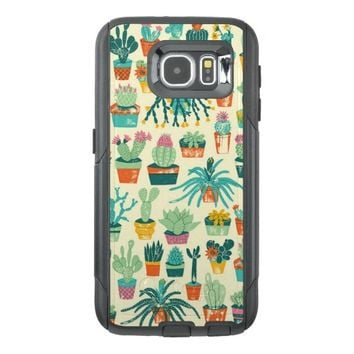 Colorful Cactus Flower Pattern OtterBox Samsung Galaxy S6 Case