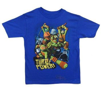 Teenage Mutant Ninja Turtles Turtle Power Youth Boys T Shirt