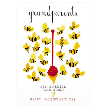 Honey For The Grandparents Valentine's Day Card