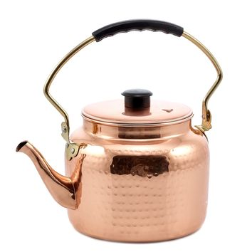 Hammered Copper Tea Kettle 2 Qt. and Lacquered by Old Dutch International
