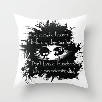 Friendship Throw Pillow by Cindys
