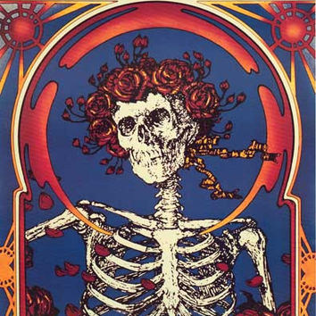 Grateful Dead Skeleton and Roses Poster 22x33