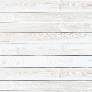 WHITE GRUNGE WOOD FLOOR VINYL BACKDROP - 3X4 - LCBD6313 - LAST CALL