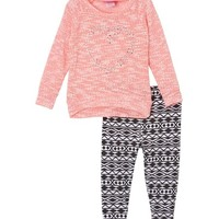 Pink Heart Sweater & Leggings - Infant