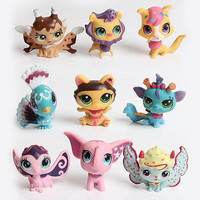 MINI Doll Lot 10 PCS Littlest Pet Shop Dog Loose Child Girl Toys LPS Gift New Kids Action Figure Toys Robot