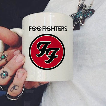 Foo Fighters Logo Mug, Ceramic Mug, Coffee Mug, tea mug,