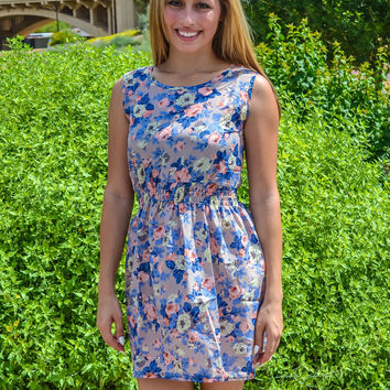 Jasi Floral Sleevelss Summer Mini Dress