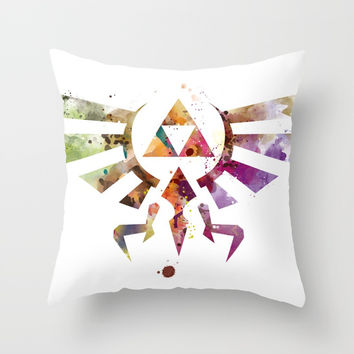 Zelda Throw Pillow by monnprint