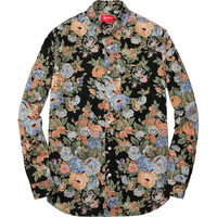 Supreme: Flowers Shirt - Black