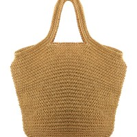 Brown Soft Straw Bag