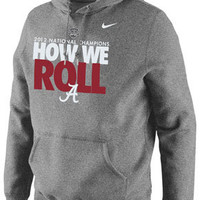 Alabama Crimson Tide Nike Grey 2012 BCS National Champions Celebration Local Hooded Sweatshirt