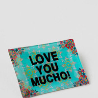Love You Mucho Glass Tray
