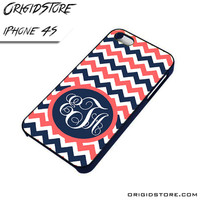 Chevron Personilzed Type Your Name Case For Iphone 4/4S Case