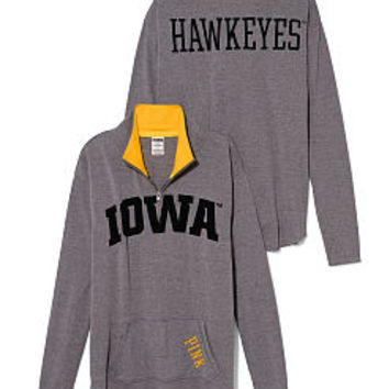 University of Iowa Raw Half-zip Pullover - PINK - Victoria's Secret