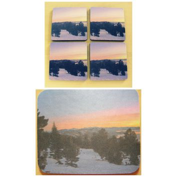 TAHOE SUNSET Desk Set for Cubicle, Home or Office by PonsArt $20.00+