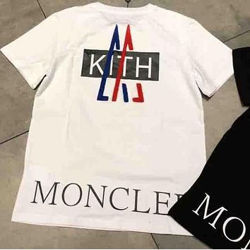 Moncler 2018 New Tide Brand Fashion Classic Logo Print T-Shirt F-AA-SYSY white