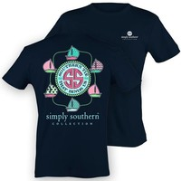 Palmetto Moon | Simply Southern Yacht Ties T-shirt | Palmetto Moon