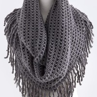 Lindsay Long Knit Infinity Scarf