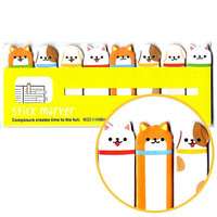 Puppy Dog Memo Pad Post-it Index Tab Sticky Notes Bookmarks | Cute Animal Themed Stationery Supplies