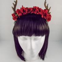 Forest Fawn Deer Antler Flower Crown Accessory