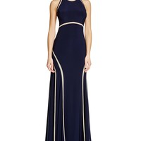 AQUAIllusion Inset Matte Jersey Gown