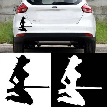 Girl Car Stickers Scratches On Car Body Door Stickers For Car Home Wall DIY