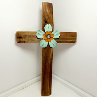 "Barnwood Cross, 10"" x 16"", Christian Home Decor, Western Home Decor, Rustic Wall Hanging"
