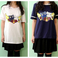 Sailor Moon Luna and Artemis Printing Uniform Jumper Top Pullover SP141177