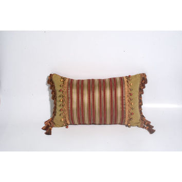 Canaan Company P-990-R 14x22 Berry Malibu Accent Pillow with Tassel Trims (Clearance Priced)