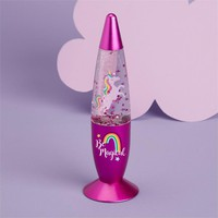 CUPCAKES & CARTWHEELS UNICORN MOTION GLITTER LAMP CHANGING COLOR LIGHT