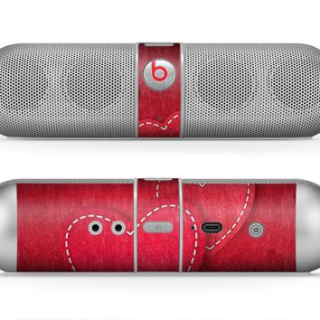 The Pocket with Red Scratched Hearts Skin for the Beats by Dre Pill Bluetooth Speaker