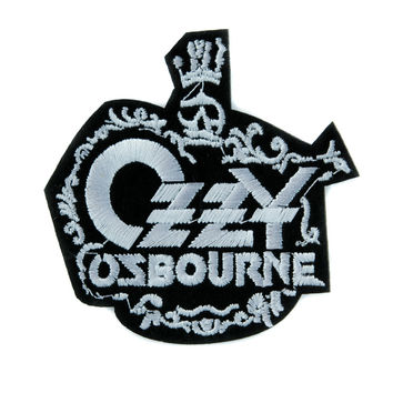 Ozzy Osbourne Prince of Darkness Patch Iron on Applique Alternative Clothing Heavy Metal Music