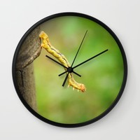 Just a little bit funny worm photography Wall Clock by Andulino