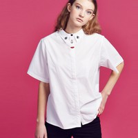 Lazy Oaf Embroidered Face Shirt - Everything - Categories - Womens