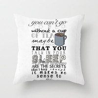 One Direction: Little Things Throw Pillow by MaFleur | Society6