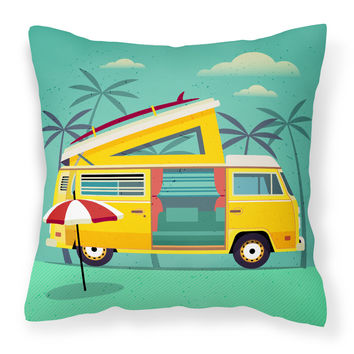 Greatest Adventure Camper Van Fabric Decorative Pillow BB5477PW1414
