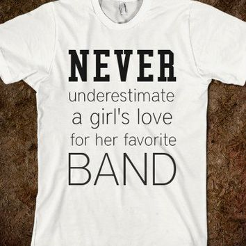 Girls Bands-Unisex White T-Shirt