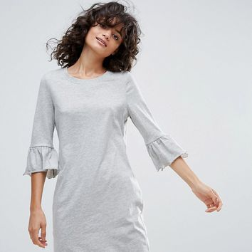 Vero Moda Peplum Sleeve Dress at asos.com
