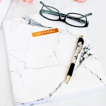 Desk Size Journal Marble