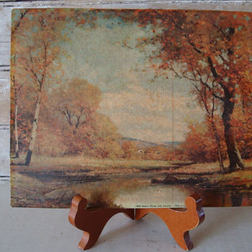Vintage Fall Scene Museum Print By Robert Woods Late Fall