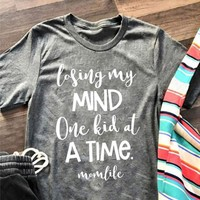 Losing My Mind One Kid At A Time #MomLife, Plus Size T-Shirt