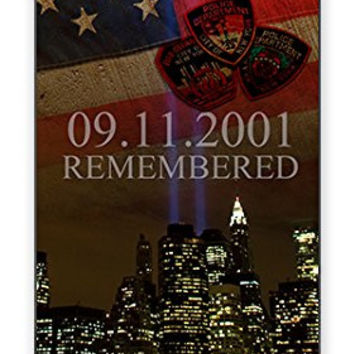 Remembering 911 September 11 2001 attack on New York City Memorial iPhone 5 Quality Hard Snap On Case for iPhone 5/5s - AT&T Sprint Verizon - White Case