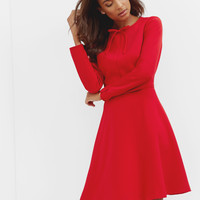 Bow detail midi dress - Bright Red | Dresses | Ted Baker