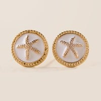 Starfish Circle Stud Earring